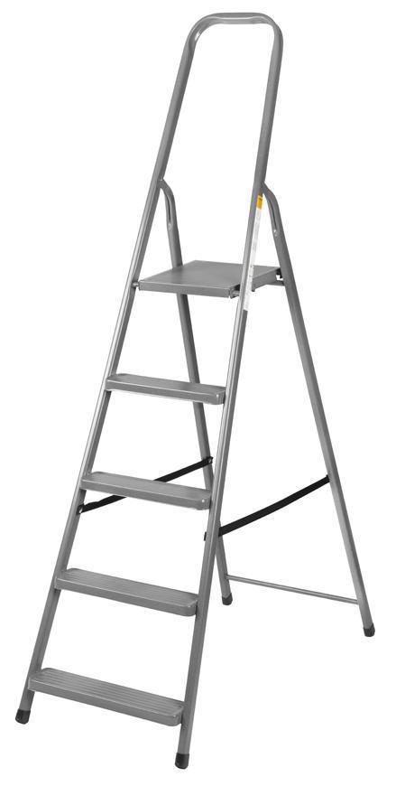 Schodiky Strend Pro ST-D5, 5 stupňové, oceľové, 173 cm, nosn. 125 kg