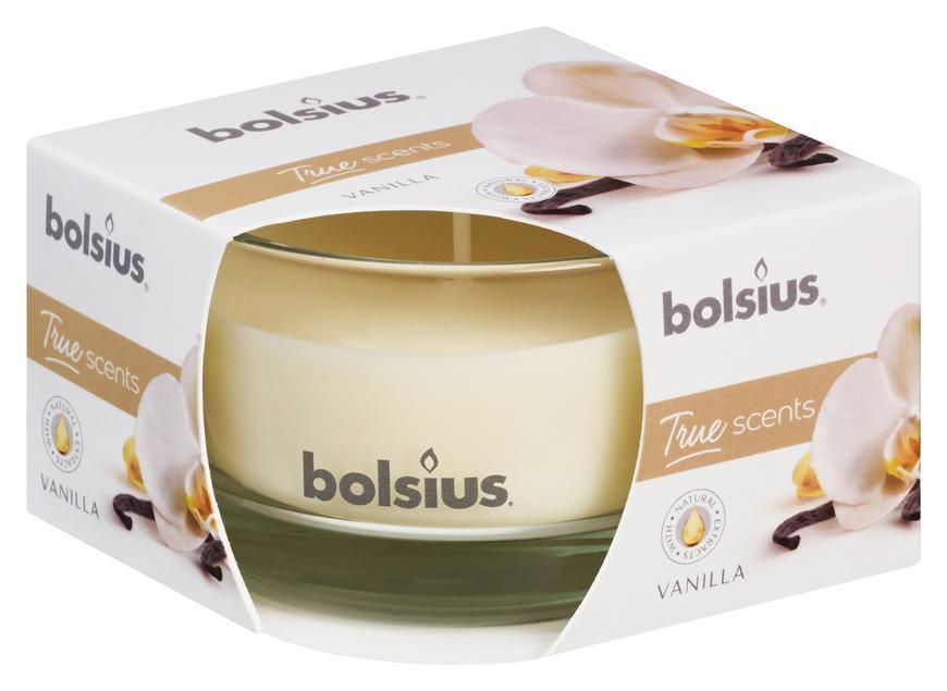 Sviecka bolsius Jar True Scents 50/80 mm, vanilka