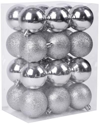 Gule MagicHome XD735, 24 ks, 6 cm, strieborné, na vianočný stromček