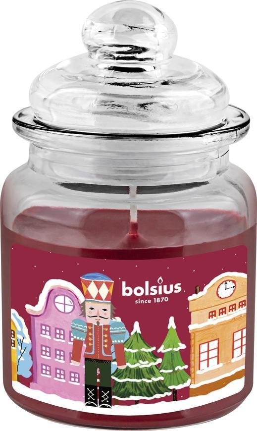 Sviečka Bolsius Luskáčik, Big Jar, vianočná, get cosy (pečené jablko a škorica), 32 hod., 79x129 mm