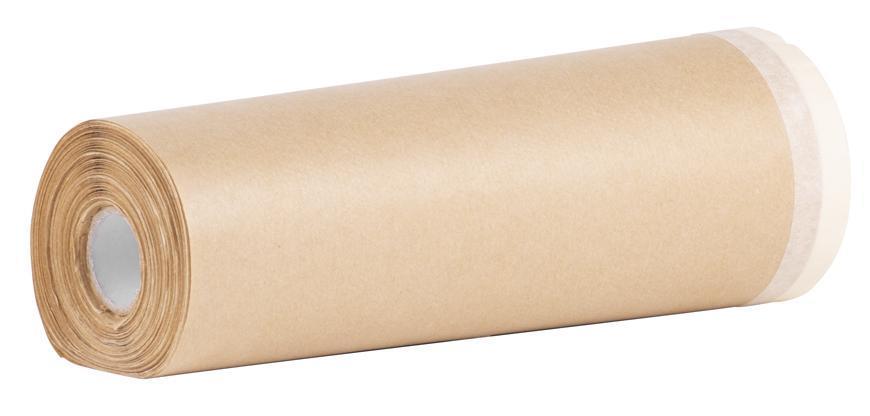 Fólia krycia Strend Pro, 180 mm, L-20 m, papierová, s maskovacou lepiacou páskou