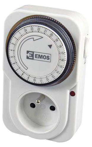 Časovač EMOS TS-MD3, mechanická spínacia zásuvka, 230 V, max. 3680 W