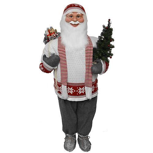 Dekoracia XmSA53, Santa so šálom, 150 cm