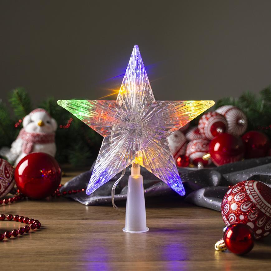 Hviezda MagicHome Vianoce, 10 LED, farebná, 2xAA