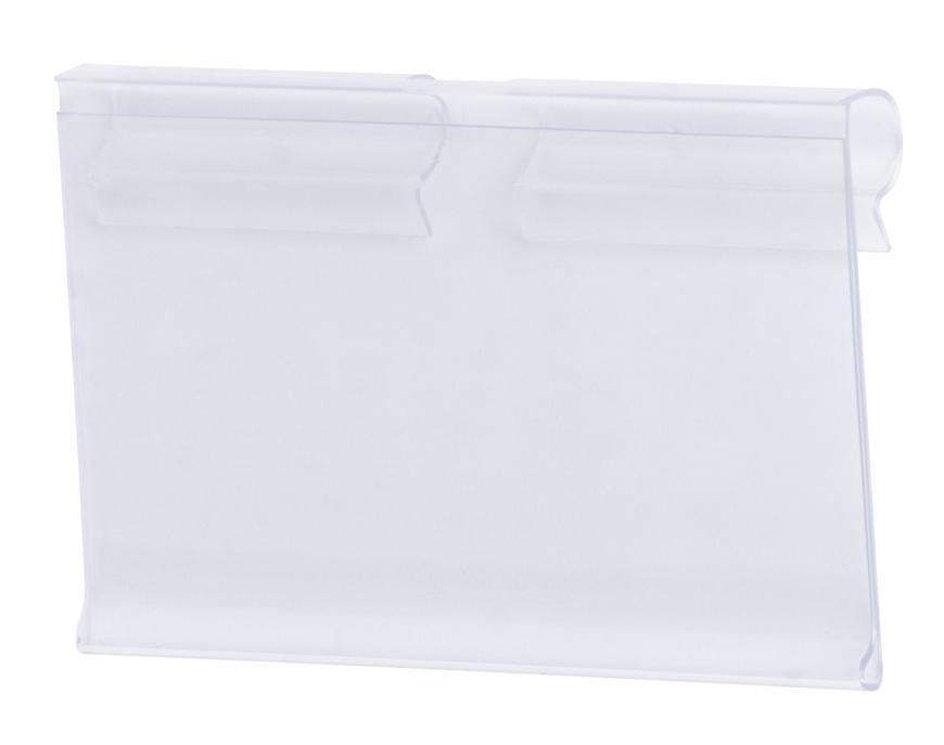 Cenovka na vešiak Racks H41 40x65mm, štandardný PVC háčik na cenovky