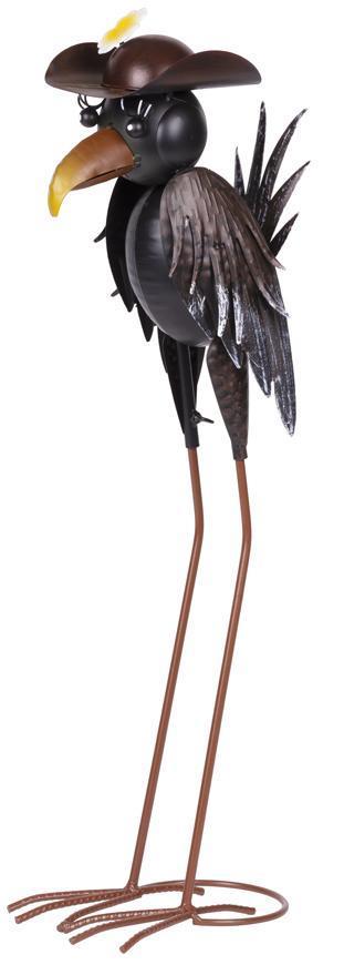 Dekoracia Mecco 6338, Havran, 66 cm, plech