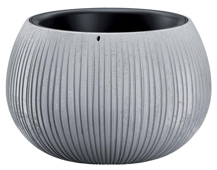 Kvetináč BETON Bowl, 29/19x20 cm, sivý