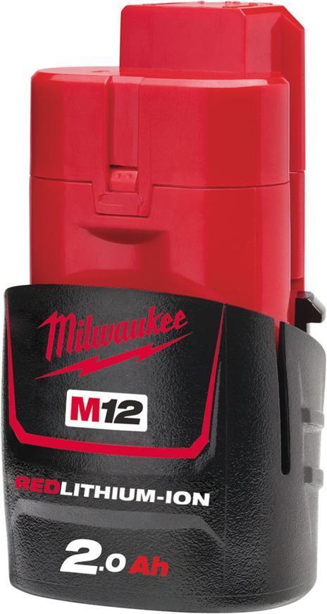 Akumulator Milwaukee M12 B2 Li-ion, 12V, 2.0 Ah