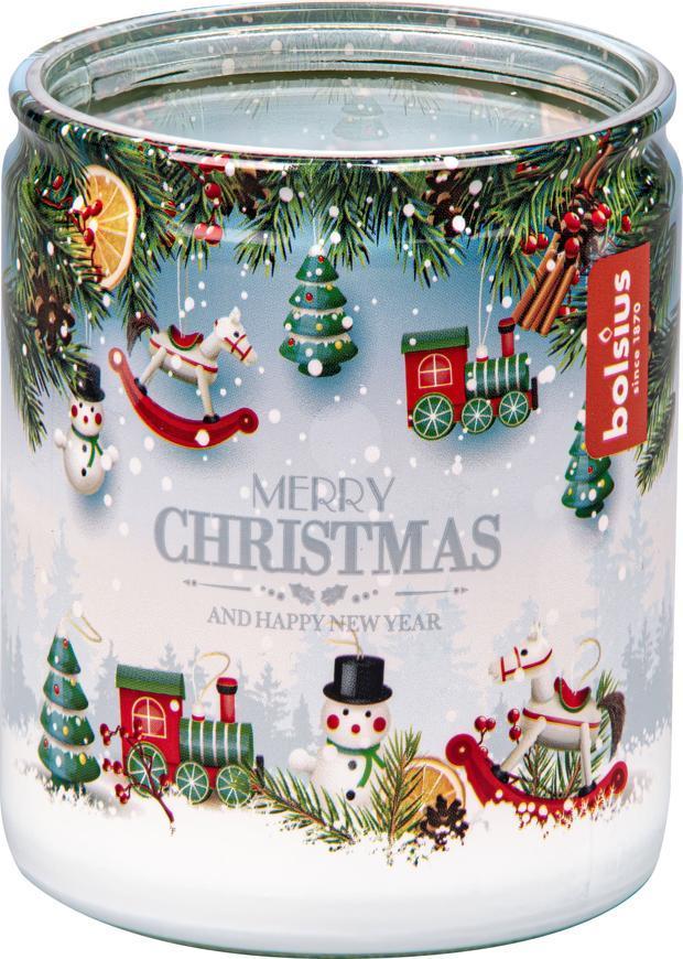 Sviečka Bolsius Starlight Vianočný čas, v skle, 23 hod., 68x82 mm