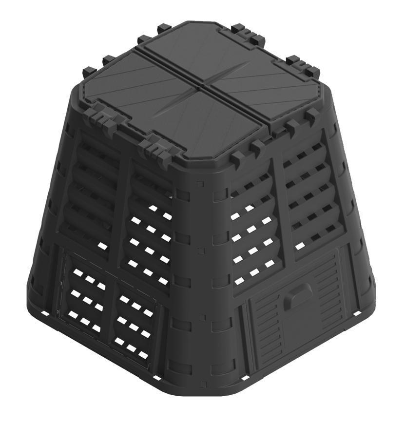 Komposter Patrol ECO Multi 420 lit, čierny, PE