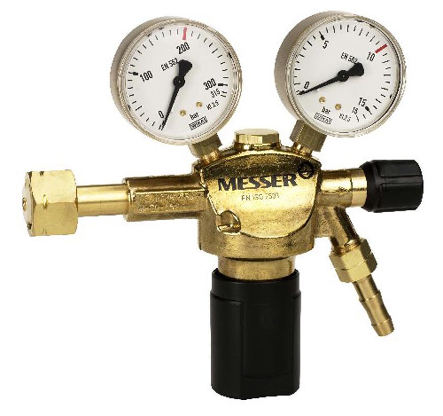 """Ventil Messer 717.06709, G1/4"""", DN8, 50bar, Dusik/Och. plyn, vstup 300bar"""