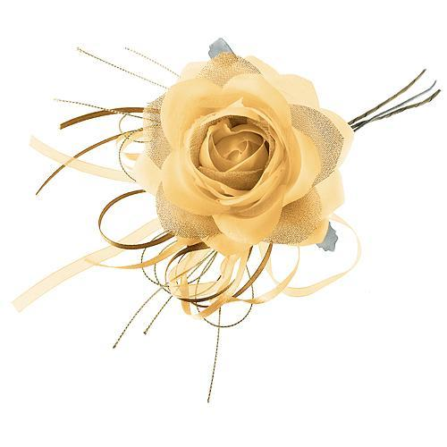Kvet ruža, zlatá, stonka, bal. 6 ks