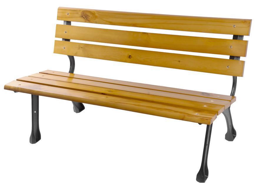 Lavicka záhradná PAYTON, 122x58x72 cm, kov/drevo