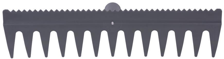 Hrable R140, 13 zubé, plastové, s urovnávacou hranou, bez násady