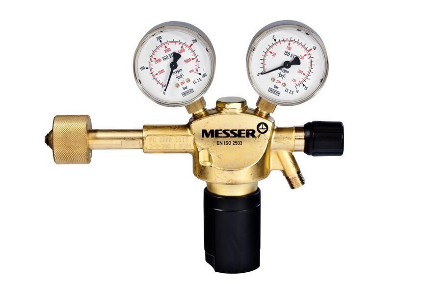 "Ventil Messer 717.06716, G1/4"", DN6, 10bar, Kyslík, vstup 300bar"