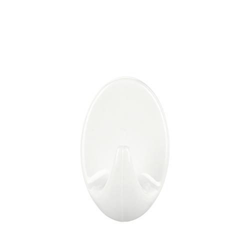 Háčik tesa® Permanent, ovál S, biely, plast