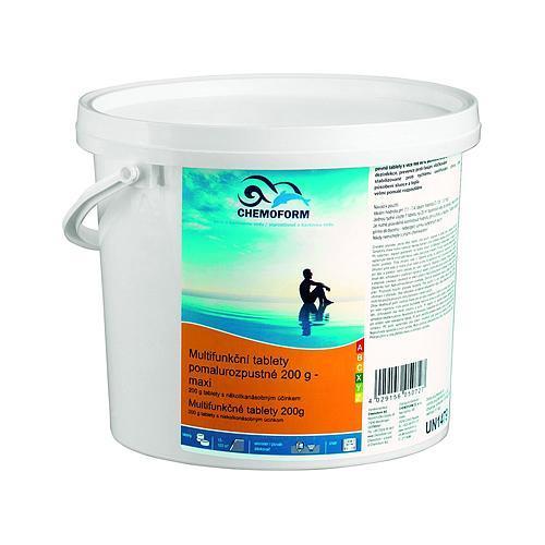 Tablety Chemoform 7601, 200 g, multifunkčné, pomalorozpustné, bal. 1 kg