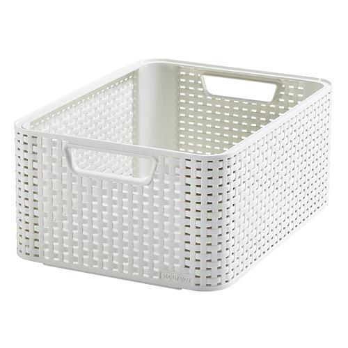 Košík Curver® STYLE2 M, krémový, 38x29x17 cm