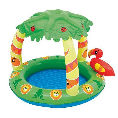 Bazénik Bestway® 52179, detský, 99x91x71 cm, Friendly Jungle Play Pool, nafukovací