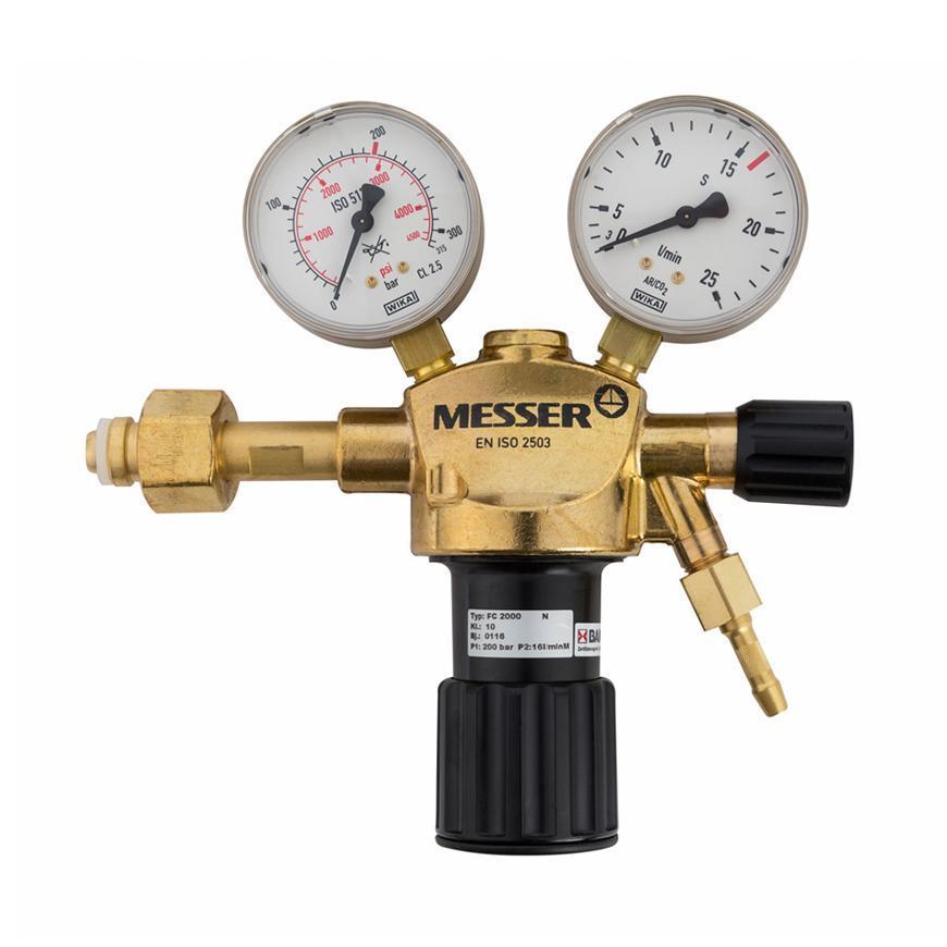 """Ventil Messer 716.20124, Constant 2000, G1/4"""" DN6, 32l, Ar/C02"""