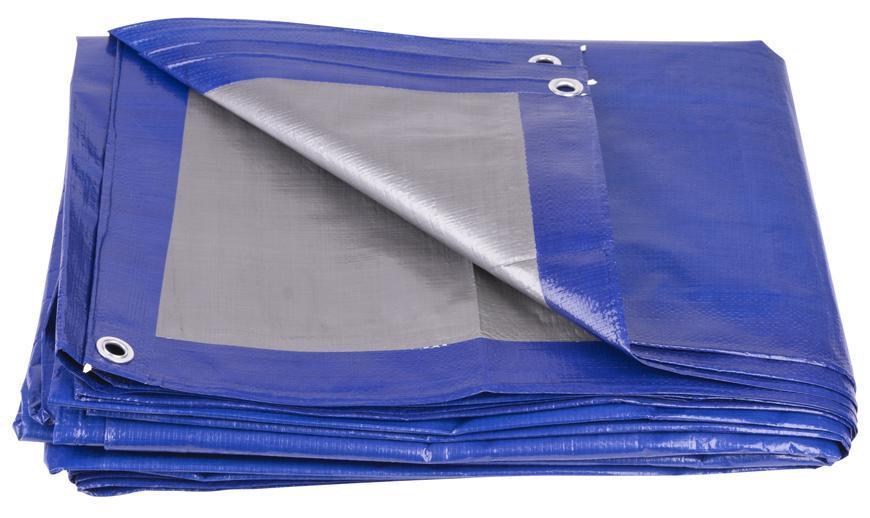 Plachta Tarpaulin Profi 08x12 m, 140 g/m, zakrývacia, modrá