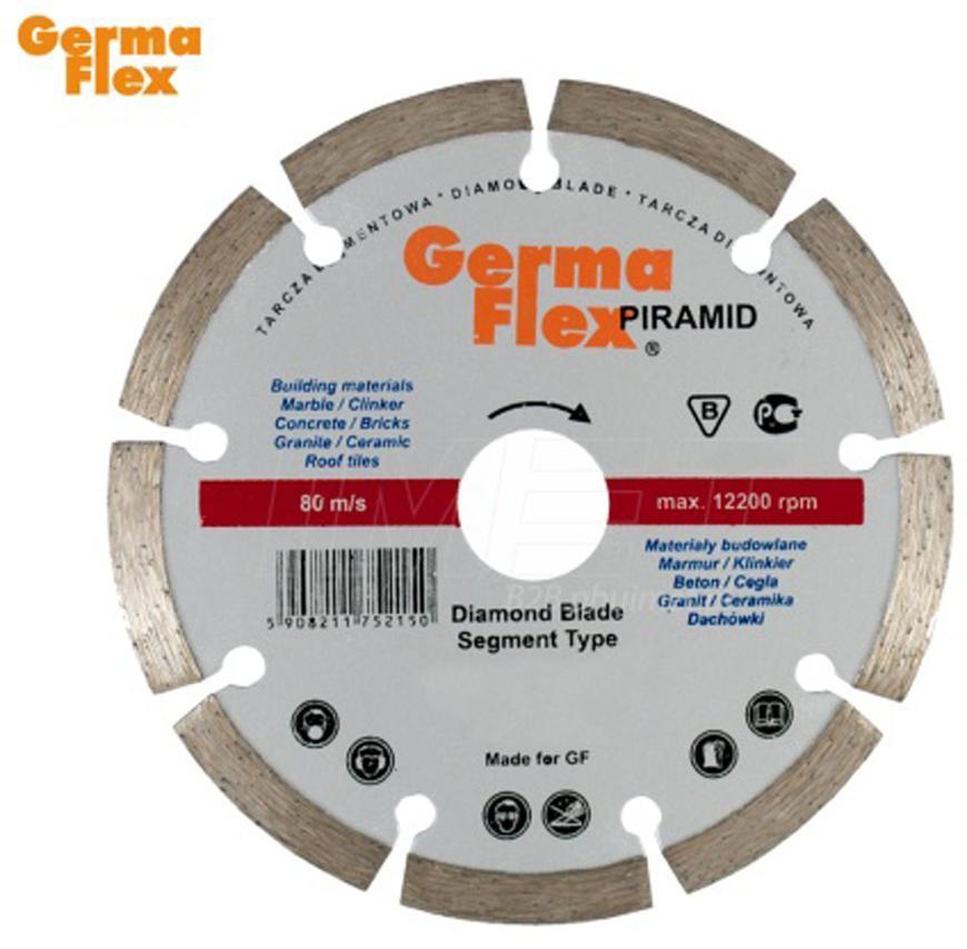 Kotuc GermaFlex Piramid Segment 115x22,2 mm, diamantový