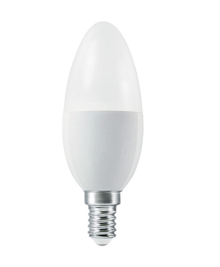 Ziarovka LEDVANCE® SMART+ WIFI 040 (ean5556) dim - stmievateľná, 5W, E14, 2700K-6500K, CLASSIC B