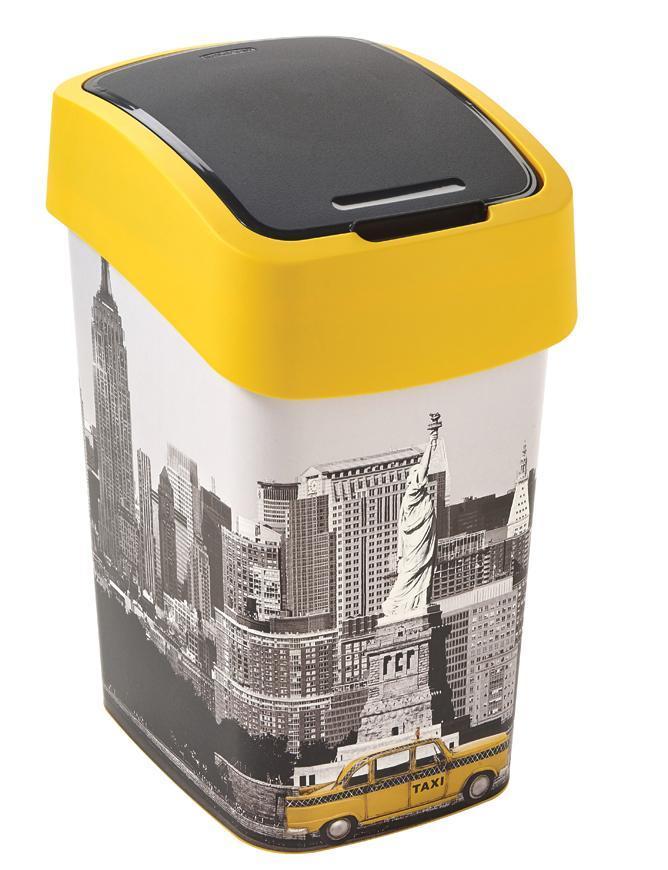 Kôš Curver® FLIP BIN 25L, NYC, na odpad
