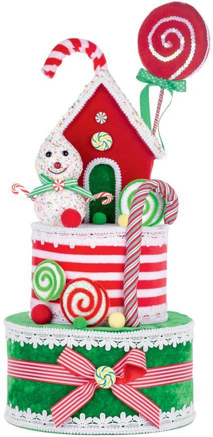 Dekorácia MagicHome Vianoce, Torta, 27x57 cm