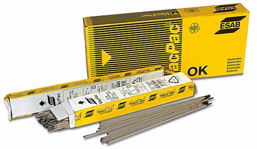 Elektrody ESAB OK 55.00 2.5/350 mm • 4.1 kg, 167 ks, 3 bal.