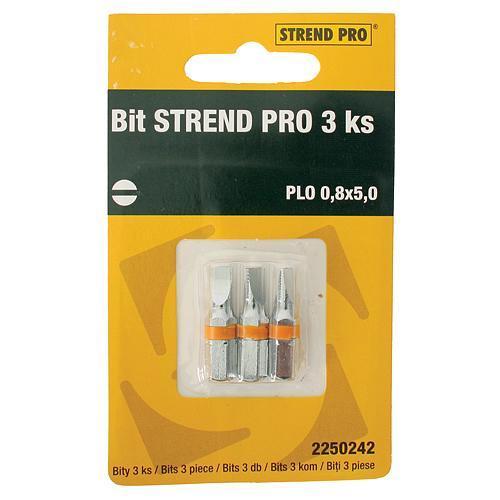 Bit Strend Pro Plochý 1,0x6,0, bal. 3 ks