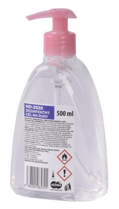 Gél Herba HD-2020, 500 ml, dezinfekčný, s pumpičkou