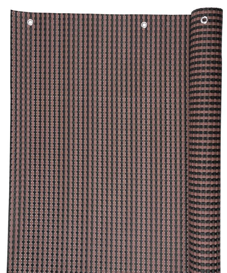 Zastena Polyratan 77 0,9x3 m, UV, 800 g/m2, hnedá-čierna, balkónová