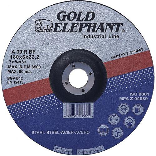 Kotúč Gold Elephant 27A T27 115x6,0x22,2 mm, brúsny na kov