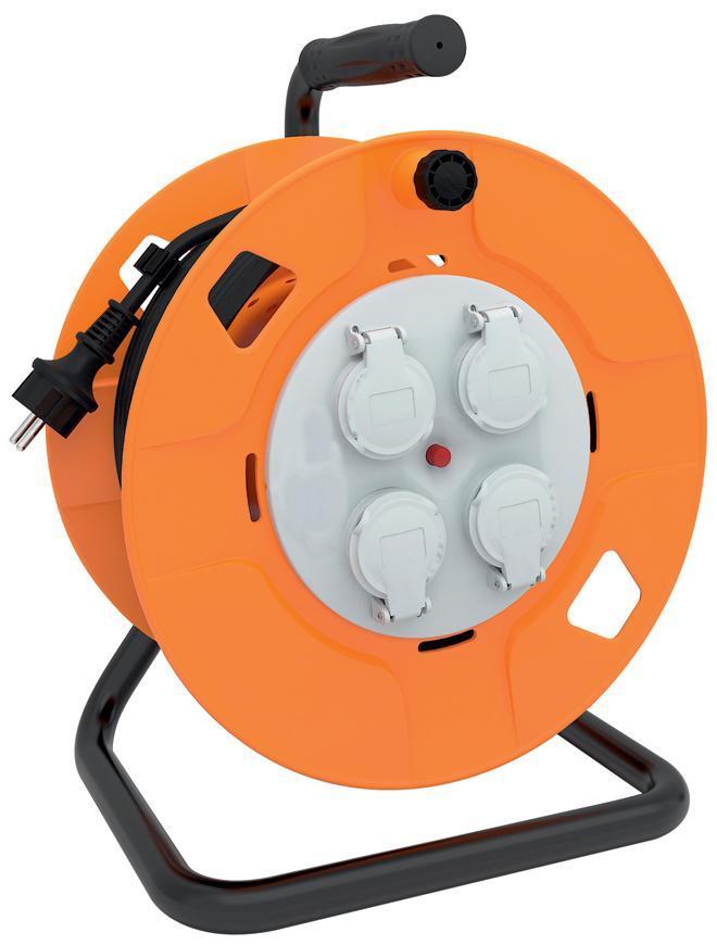 Kábel Strend Pro CR095, 4 zásuvky, L-50 m, predlžovací