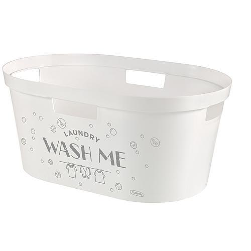 Kôš Curver® INFINITY 39L, Wash Me, 59x27x39 cm, na bielizeň, prádlo