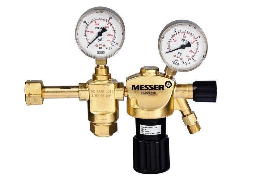 "Ventil Messer 716.20118, G3/8"" LH, DN8, 10 bar, Horľ. plyn, dvojstupnovy"