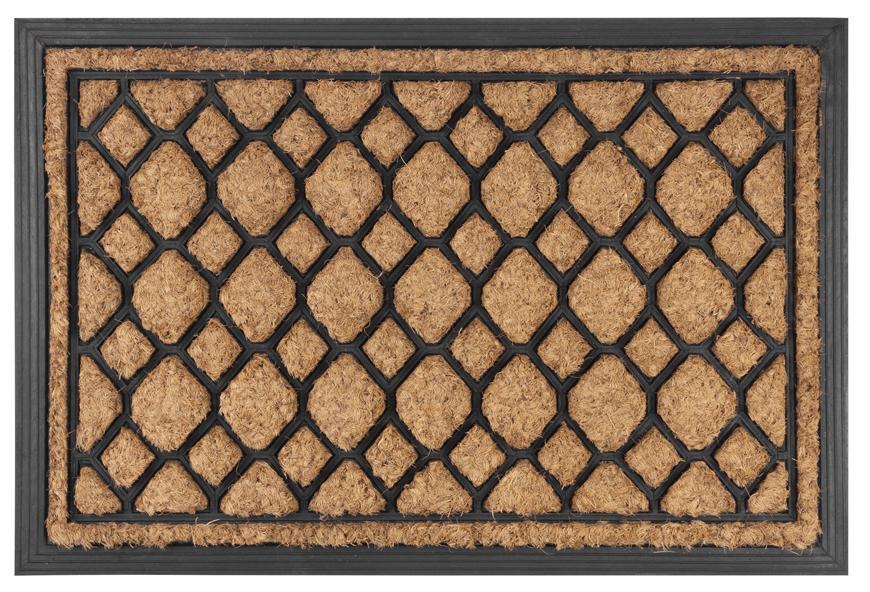 Rohozka MagicHome RBC 178, FishScales, 40x60 cm, guma/kokos