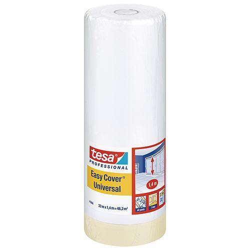Fólia tesa® Pro Easy Cover® Universal, s páskou, 1400 mm, L-33 m, transparentná
