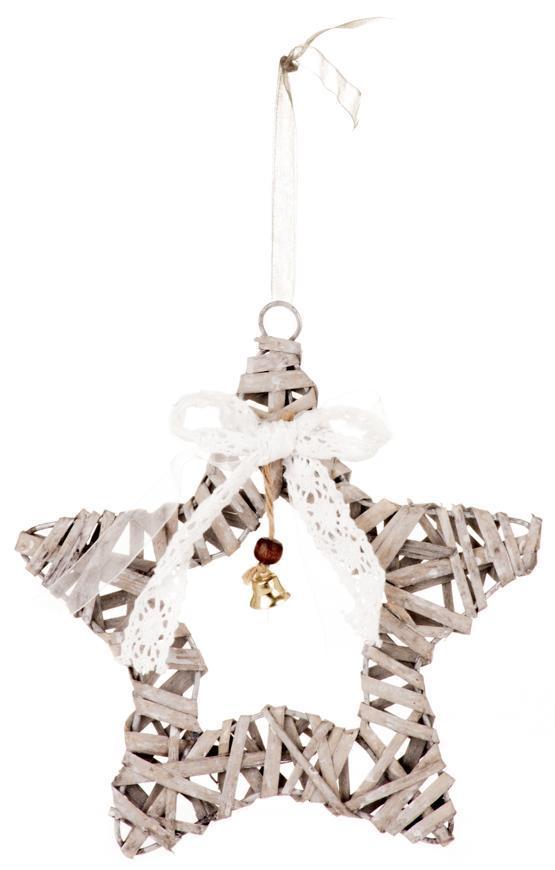 Dekorácia MagicHome Vianoce Wildeco, Hviezdička, bal. 5 ks,  20x3 cm