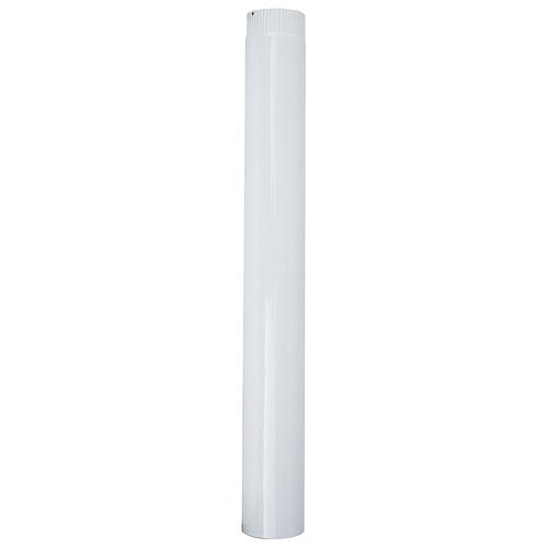Rura Smalt 1000 mm, biela, smaltovaná, 120 mm