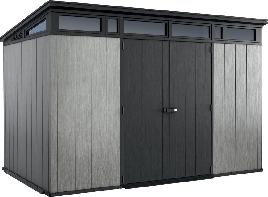 Domček Keter® ARTISAN 11x7, antracit/sivá, 342x218x226 cm, UV, DUOTECH™