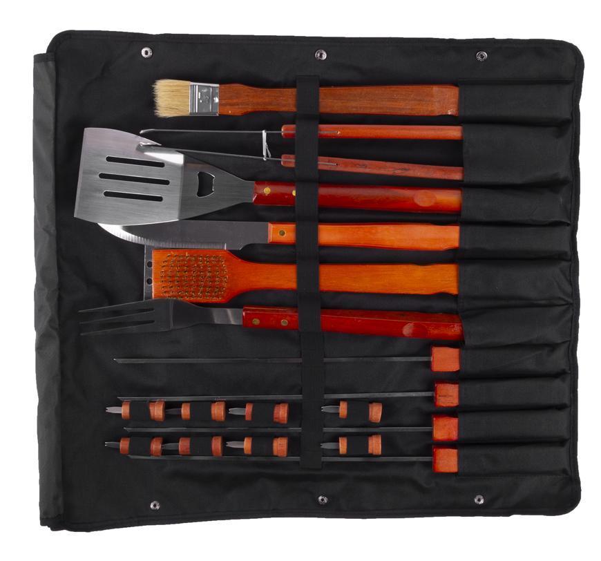 Sada naradia Strend Pro BBQ 218, na gril, Hardwood, na opekanie a grilovanie
