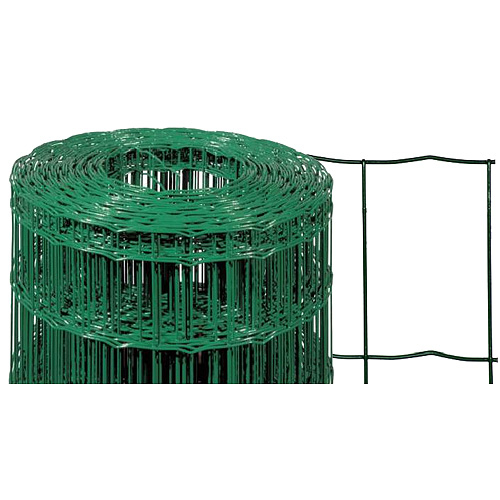 Pletivo EUROPLAST 1, 1000/100x50/2,20 mm, zelene, RAL 6005, Zn+PVC, ohradove bal. 25 m
