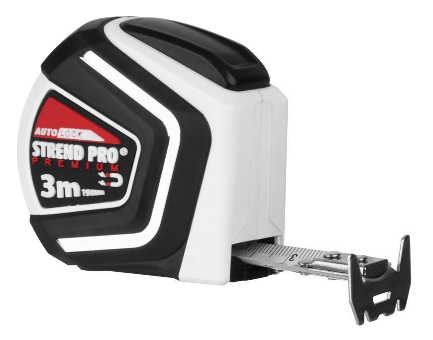 Meter Strend Pro Premium 3 m, zvinovací, Auto STOP, magnetic