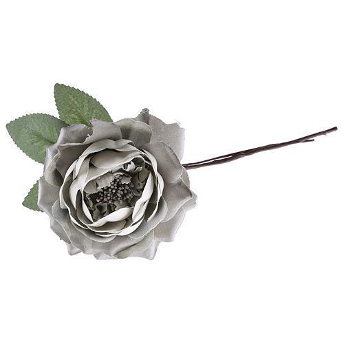 Kvet ruža rozvitá, fialová, stonka, bal. 6 ks