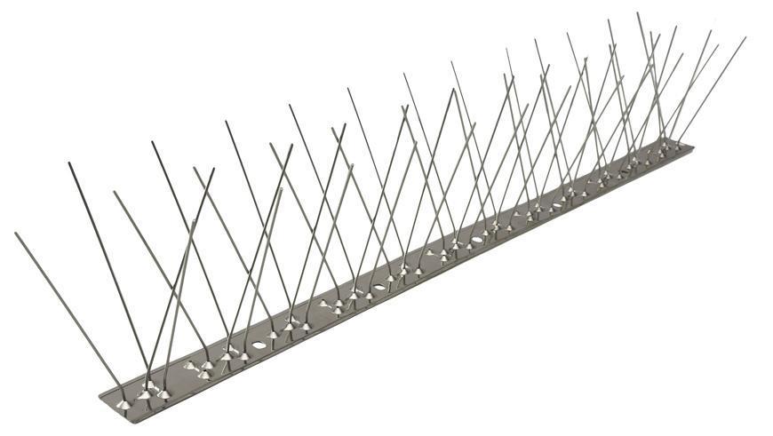 Zabrana Pecon SPIKE-55-0, 48 hrotov, L-50 cm, PC UV, proti vtákom, nerez