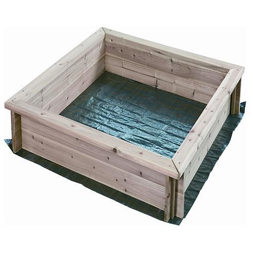 Pieskovisko LEQ SANBOX, detské, drevené, plachta 95x95x15cm