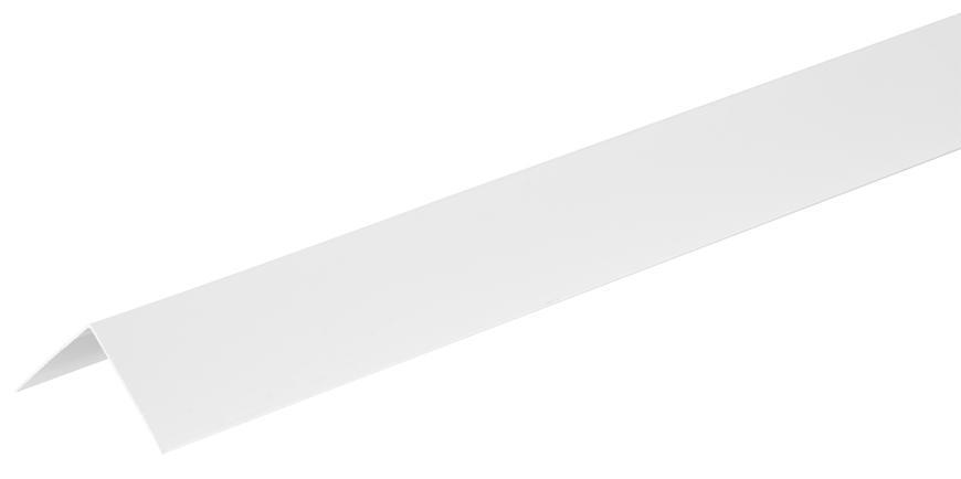 Lišta Strend Pro CS147, Alu 1500x40x0,8 mm, biela, 0,8 mm, rohová,