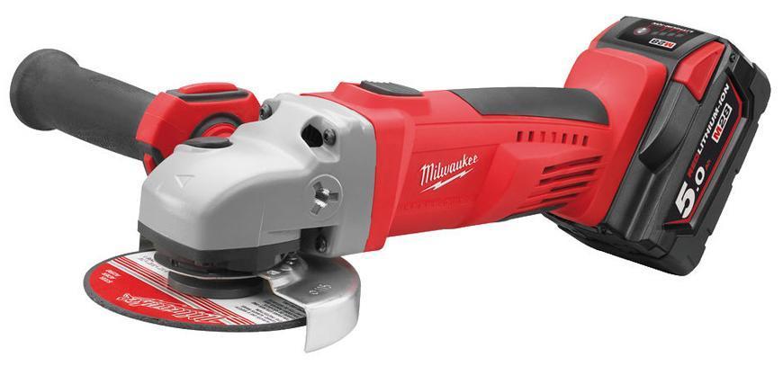 Bruska Milwaukee® HD28 AG125-502X, 2x5.0Ah, 125 mm, uhlová